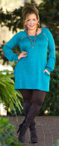 Too Cute To Be Blue Tunic  -  Teal