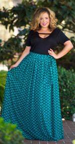 Teal Me The Truth Maxi Skirt  -  Teal***FINAL SALE****