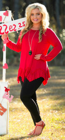 On The Edge Of Forever Tunic - Red