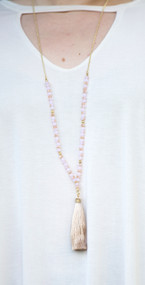 Heart On My Sleeve Necklace - Pale Pink