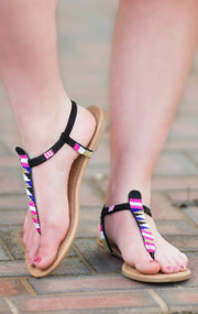 Sequin Delight Sandal - Black***FINAL SALE***