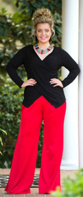 Miss Fancy Pants Wide Leg Pant - Red***FINAL SALE***