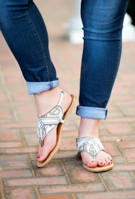 Starry Night Sandal - Silver