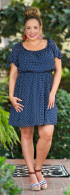 Pool Side Service Dress - Navy