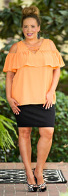 Fashion Playground Top - Apricot***FINAL SALE***