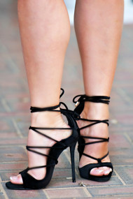 Playing Koi Strappy Heel - Black***FINAL SALE***