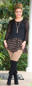 Coconut Cove Tunic - Black***FINAL SALE***