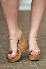 Party On A Platform Wedge - Gold***FINAL SALE***