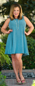 Made In The Shade Dress/Tunic -Teal