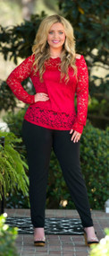 Paint The Town Red Top***FINAL SALE***