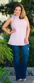 City Girl Chic Top - Mauve