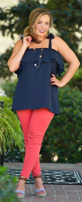 Chasing Rainbows Top - Navy