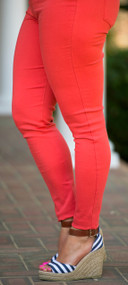 Beach Vibes Ankle Jegging - Orange***FINAL SALE***