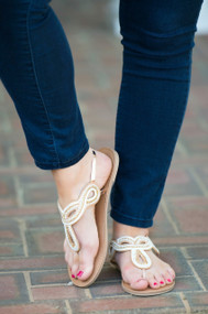 Stitch And Tell Sandal - Rose Gold