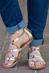 The Golden Ticket Sandal  -  Gold