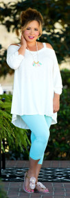 Kiss On The Chic Tunic  -  Off White