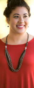 Strands Of Time Necklace  -  Black