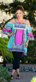A Holiday Away Dress / Tunic  -  Fuschia
