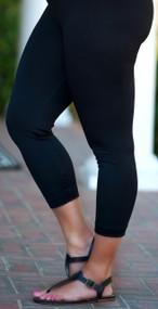 So Very Luxe Capri Legging   -  Black
