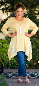 Head In The Clouds Tunic - Mustard***FINAL SALE***