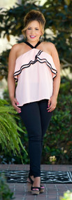 Strawberry Delight Top - Pink/Black