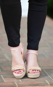 Toes In The Sand Sandal  -  Blush