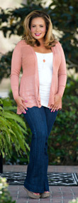 Breath Of Fresh Air Cardigan  -  Dusty Coral