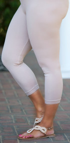 Luxury Awaits Capri Legging - Beige