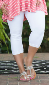 Luxury Awaits Capri Legging - White