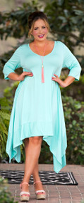 "Oh ""Hoppy"" Days Ahead Dress - Mint***FINAL SALE***"