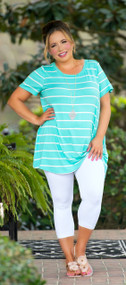 Knot Your Average Girl Top - Mint