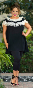 A Charleston Affair Tunic - Black