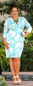 Sunrise Service Wrap Dress***FINAL SALE***