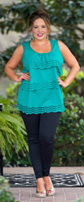 Leaping Leprechauns Top - Emerald***FINAL SALE***