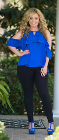Suite Retreat Top  -  Royal Blue