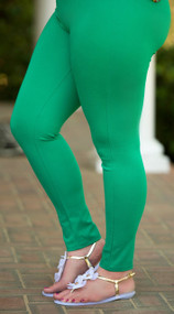 Meet Me At Sunset Ankle Pant  -  Grass Green