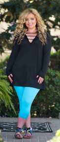 Night Moves Tunic  -  Black