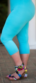 Luxury Awaits Capri Legging - Ocean Blue