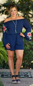 Do You Sea What I Sea Romper - Navy