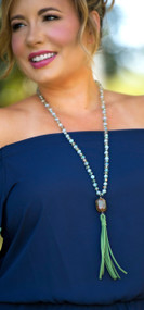 Shimmer And Shine Necklace - Green