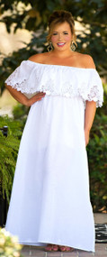 Whisper In The Wind Maxi Dress - White