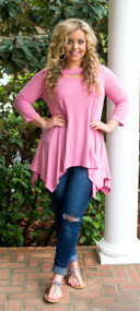Hide And Seek Tunic  -  Light Pink
