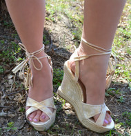 5th Ave Fabulous Wedge  -  Champagne***FINAL SALE***