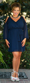 Welcome Home Dress - Navy