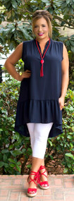 Sheer Delight Tunic  -  Navy ***FINAL SALE***