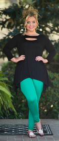 Hide And Seek Tunic  -  Black