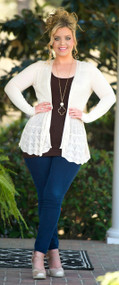 Breath Of Fresh Air Cardigan  -  Beige