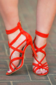 The Jury Is Out Heel  -  Orange***FINAL SALE***