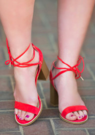 Take On The Day Heel  -  Coral