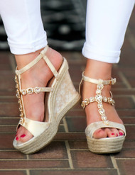 Create A Scene Sandal  -  Champagne***FINAL SALE***